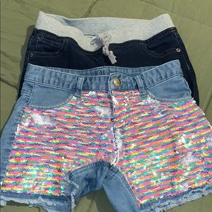 Justice 2 pairs of shorts